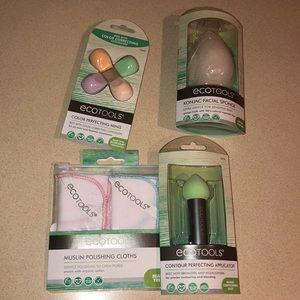 NWT 4pc Ecotools facial & makeup bundle